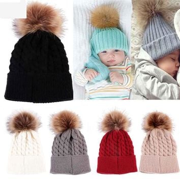 Real Limited Newborn Baby Girl Hat Beanie Toddler Kids Winter Knitted Hats Crochet Warm Caps For Girls Dress Recien Nacido
