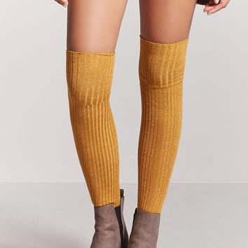 Metallic Over-the-Knee Socks