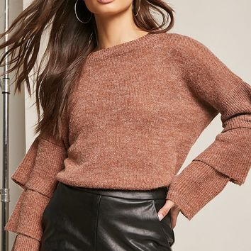 Tiered Bell Sleeve Sweater