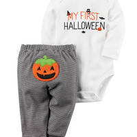 2-Piece Halloween Bodysuit Pant Set
