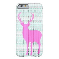 Hot Pink Deer Aztec Wood Barely There iPhone 6 Case