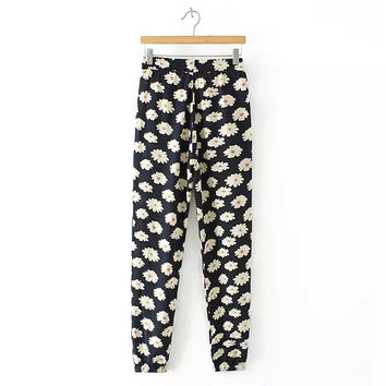 Women's Fashion Floral Print Casual Pants [4919627588]