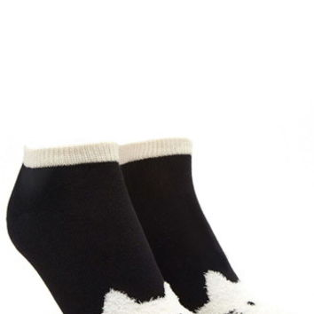 Fuzzy Cat Ankle Socks