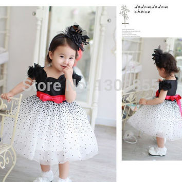 Details about Baby Girls Kids Dresses Princess Bow Elegant Child Party Formal Dress US Stock