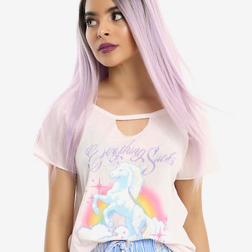 Unicorn Everything Sucks Girls Top