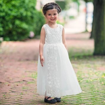 White Clarice Gown Dress