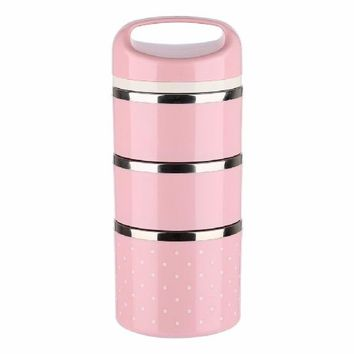 3 Layers Stainless Steel Thermal Lunch Boxs For Kids Picnic Container
