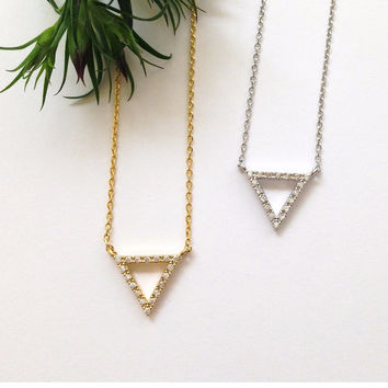1 Triangle Necklace #L12