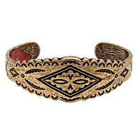 The Lela Southwestern Engraved Cuff in Gold