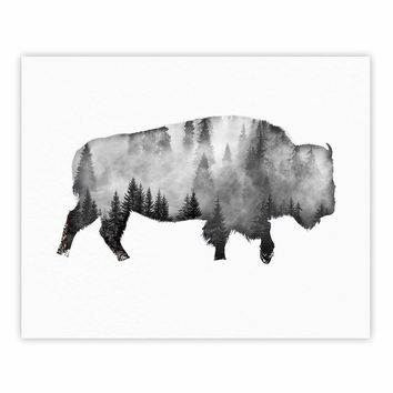 Bison - Black White Nature Digital Fine Art Gallery Print