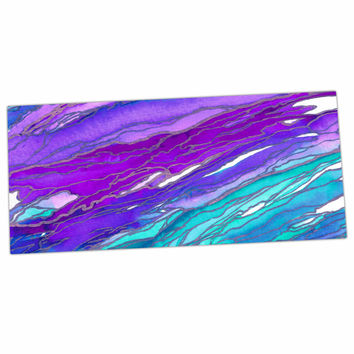 "Ebi Emporium ""Agate Magic - Purple Blue"" Aqua Lavender Desk Mat"