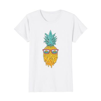 """Pineapple Summer"" Trendy Cool Cartoon Graphic T-Shirt"