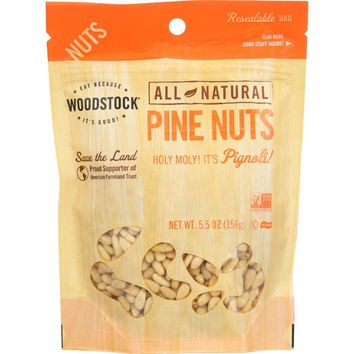 Woodstock Nuts - All Natural - Pine Nuts - 5.5 Oz - Case Of 8