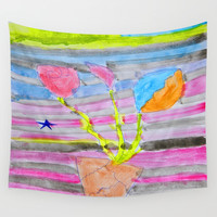 Yolo Love | Flower by Elisavet | #society6 Wall Tapestry by Azima