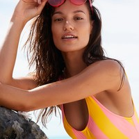 Free People The Anne Marie Stripe One Piece Swimsuit