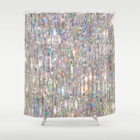 To Love Beauty Is To See Light (Crystal Prism Abstract) Shower Curtain by Soaring Anchor Designs