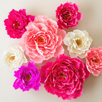 Shop Giant Paper Flowers Wedding On Wanelo
