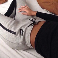 "Women Fashion ""NIKE"" Sport Stretch Pants Trousers Sweatpants"