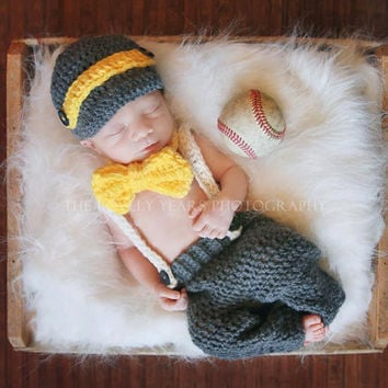 Newborn Baby Girls Boys Crochet Knit Costume Photo Photography Prop = 4457564804