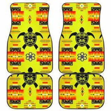 Turtle Yellow Orange Set of 4 Car Floor Mats