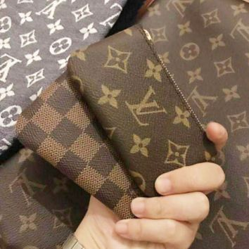 Louis Vuitton Trending Print Monogram Canvas Key Pouch M62650 Coffee Tartan G