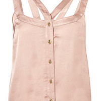 Satin Cutout Crop Cami - Camis  Tanks - Tops  - Apparel - Topshop USA