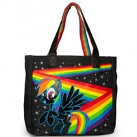 My Little Pony Rainbow Dash Black Tote Bag - My Little Pony - | TV Store Online