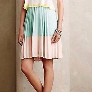 NWT Anthropologie Tiered Sorbet Dress Sz 12 - by Maeve