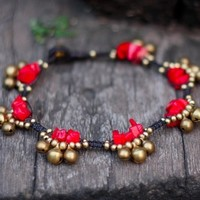 Coral Bell Group Anklet