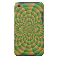 Orange and Green Kaleidoscope iPod Touch Case