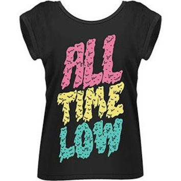 All Time Low Women's  Melted Girls Jr Black Rockabilia