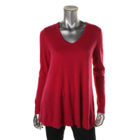 Lord & Taylor Womens Cashmere Long Sleeves Pullover Sweater