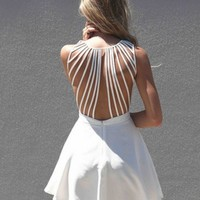 White Suspense Dress