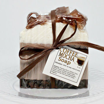 Coffee Mocha Scented Soap Handmade- 6 oz