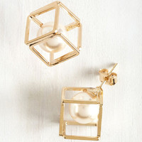 Geometric Glam Earrings by ModCloth