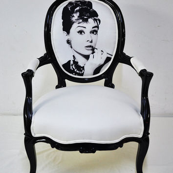 audrey hepburn vintage armchair by namedesignstudio on Etsy