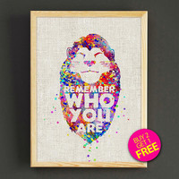 Lion King Simba Watercolor Art Print Disney Quote Poster House Wear Wall Art Decor Gift Linen Print - Buy 2 Get FREE - 254s2g
