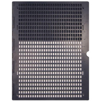 LS&S 521030 Braille Plastic Full Page Slate 25 x 28, Bottom Pins