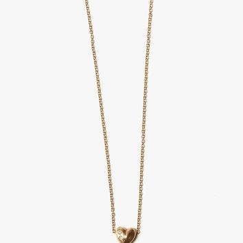 Charity Heart Necklace w/ Diamonds