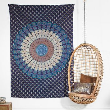 Printed Tapestries, Navy/Orange