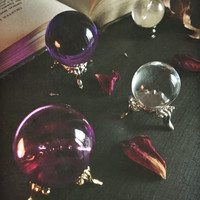 Purple Witch Sphere ~ Crystal Sphere ~ Crystal Ball ~ Altar Tool ~ Divination ~ Scrying