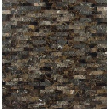 MS International Emperador Splitface 12 in. x 12 in. x 10 mm Marble Mesh-Mounted Mosaic Tile-EMP-SFIL10MM - The Home Depot