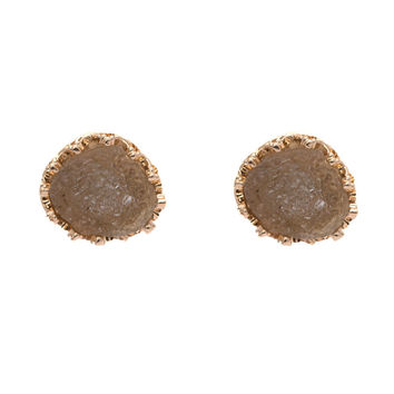Moon Rock Earrings In Mocha