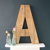 Giant Handmade Reclaimed Wooden Letter Plaque