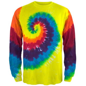Spiral Tie Dye Long Sleeve T-Shirt