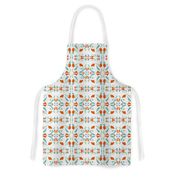 "Miranda Mol ""Italian Kitchen Orange Green"" Artistic Apron"