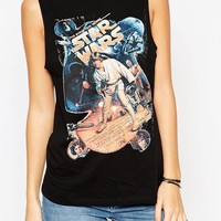 ASOS PETITE Tank Top with Star Wars Print