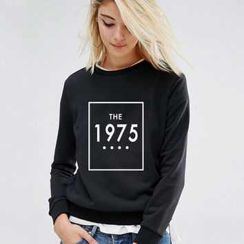 New 2016 Autumn Hoody Women Sport Suit Sweatshirts The 1975 Letter Print Casual Full Sleeve Hoodies Women Pullover Poleron Mujer