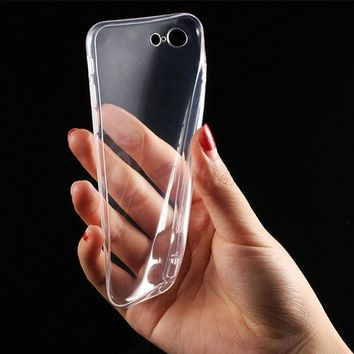 DCCKHY9 Transparent Clear Soft Silica Gel TPU Case Silicone Cover for Apple iPhone 7 iPhone7 Plus 6 6s 5 5s SE Mobile Phone Cases