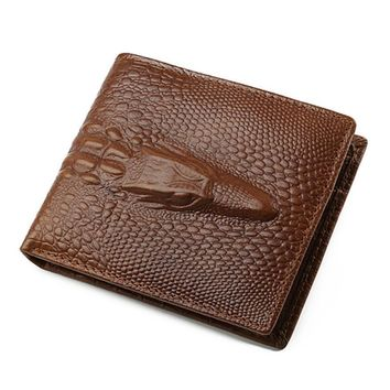 JINBAOLAI Brand Men Wallets Cow Leather Credit ID Card Holder Billfold Purse Men Bifold Wallet Mens